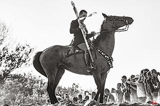 Uomo a cavallo, Ardia di Sedilo, Oristano, 2017